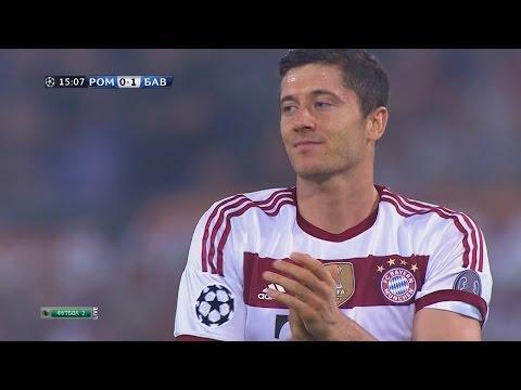 Robert Lewandowski vs AS Roma Away HD 1080i (21/10/2014) by 1900FCBFreak