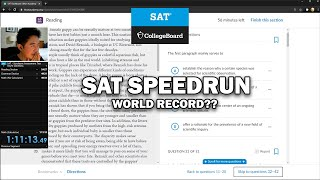 SAT Speedrun World Record (Any% Glitchless)