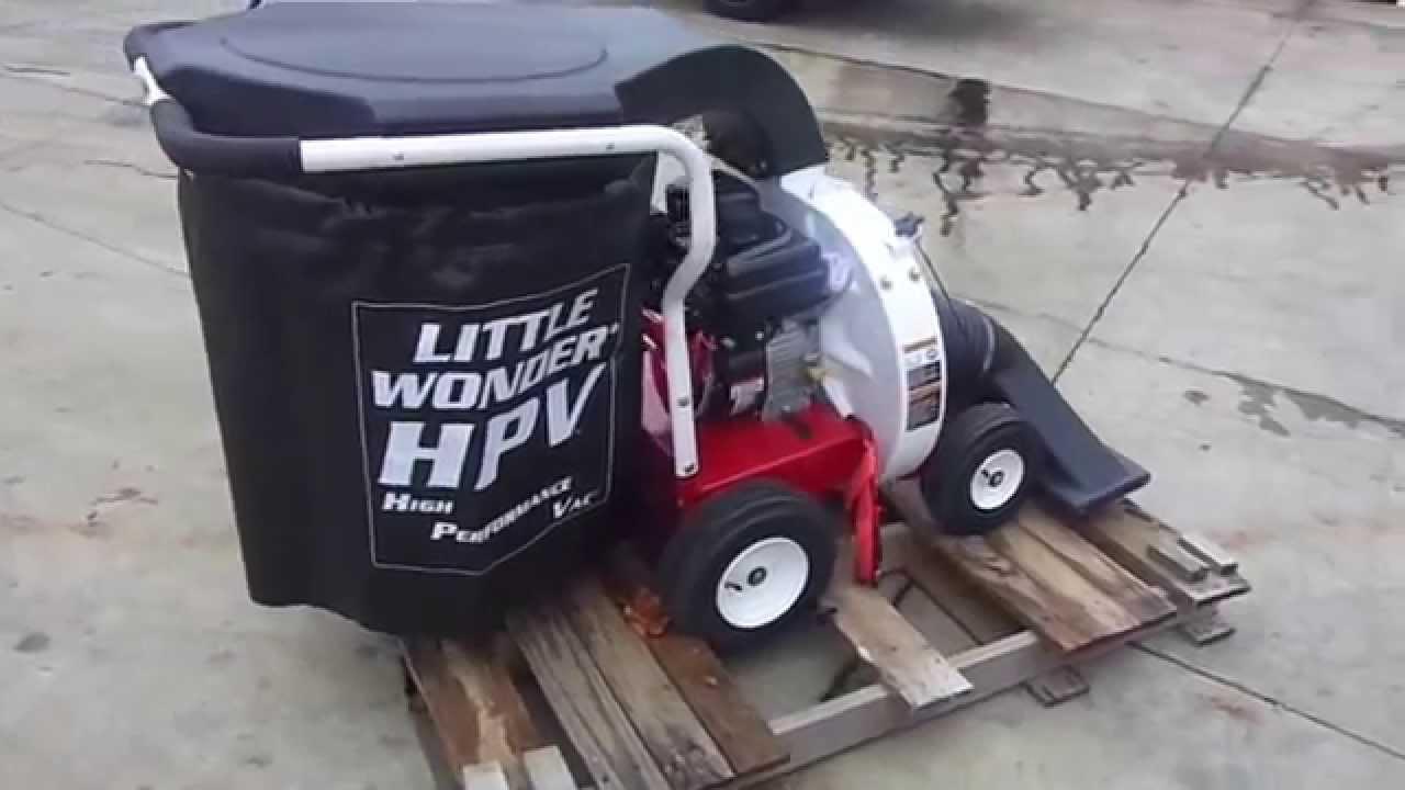 Little Wonder Walk Behind Leaf Debris Vacuum With 205cc