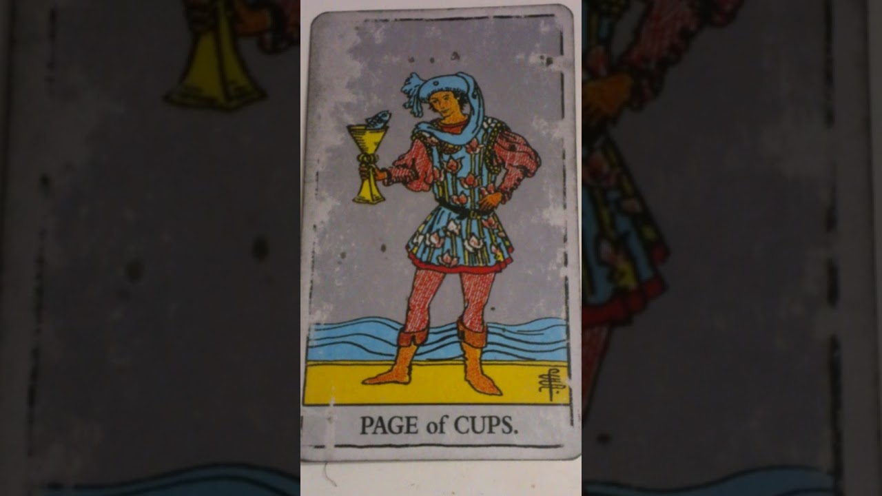 The Page of Cups as Feelings in a Love Reading