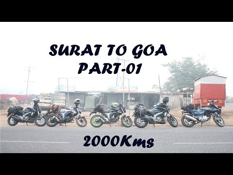 How We Did Surat To Goa Within 16 hours || Bajaj Dominar 400 pulsar 220 gixxer|| Part 1