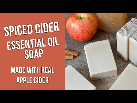 Spiced Apple Cider Soap Made With Essential Oils | MO River Soap