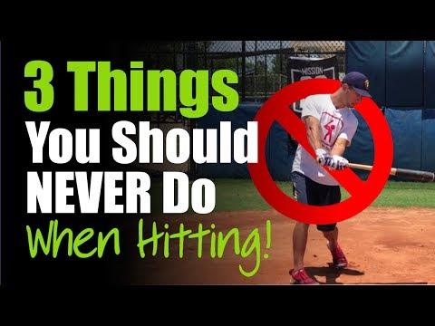 3 Things You Should NEVER Do When Hitting! - Baseball Hitting Tips