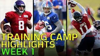 2018 Training Camp Highlights Week 1: Odell, Jackson, Wentz, Luck, & More!   NFL