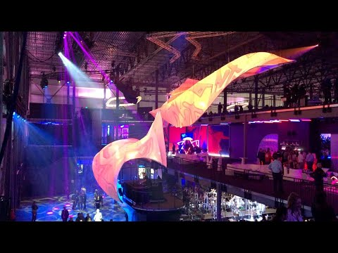 Aluminum Tube Wrapped Free Form Floating Front & Rear Video Projection Sculptures - Video