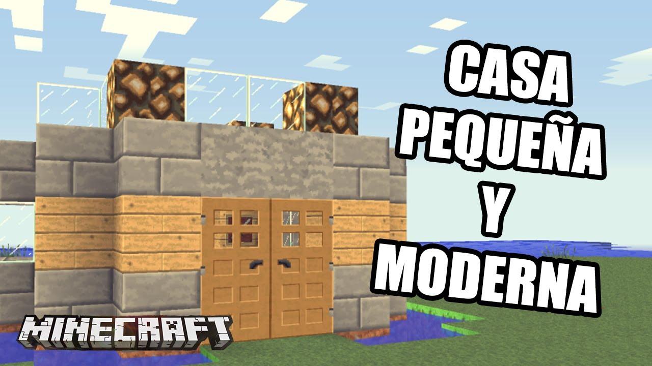 Minecraft casa peque a sencilla y moderna a la vez for Como decorar una casa sencilla