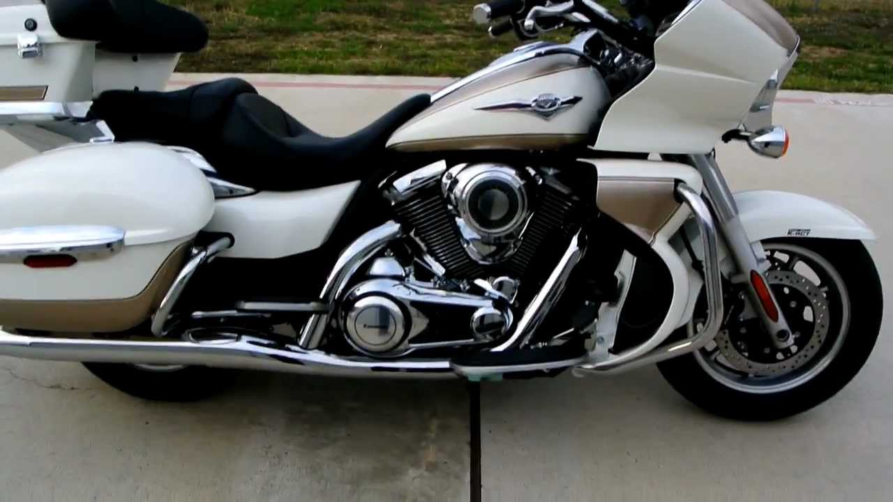 For Sale! 2012 Kawasaki Vulcan 1700 Voyager ABS Pearl Alpine White / Pearl  Luster Beige