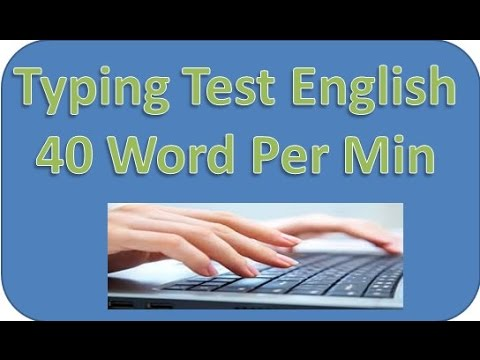 Typing test 40 word per min Lession 1