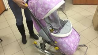 Обзор санок коляска Ника Наши детки