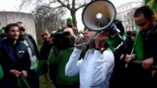 Pro Gaddafi Protests In Front Of Libyan Embassy London 17.2.2011
