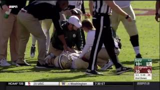 Baylor's Seth Russell suffers gruesome leg injury