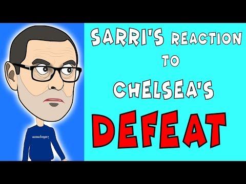 "SARRI'S REACTION TO 2-0 DEFEAT AT ""EMIRATES STADIUM""."