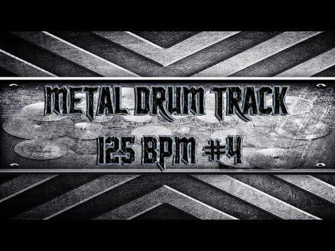 Double Bass Extravaganza Metal Drum Track 125 BPM (HQ,HD)