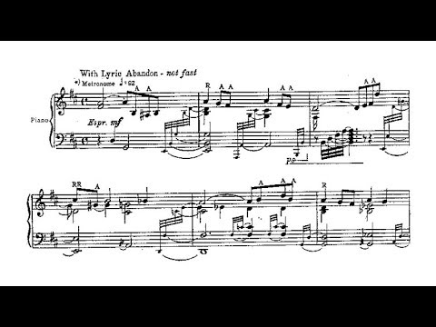 Ervin Nyiregyházi - A Soldier of Fortune (audio + sheet music)