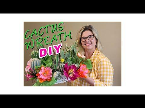 Cactus Wreath DIY