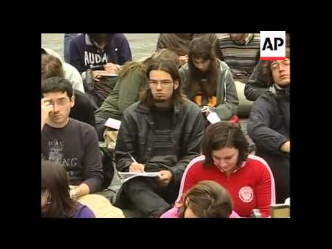 Across Italy, students are taking over high schools and universities, protesting planned cuts by the