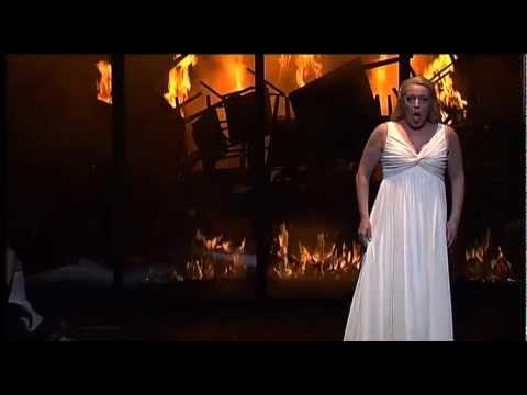 """Nina Stemme singing """"Fliegt heim, ihr Raben"""" from GÖTTERDÄMMERUNG"""