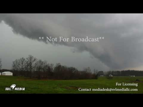 James Longwith - Salem, Indiana - Shelf Cloud With Vorticity - March 27th, 2017
