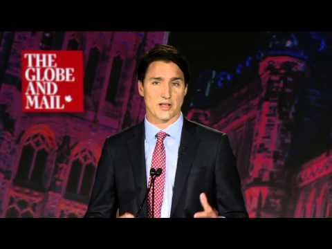Justin Trudeau at the Globe leaders
