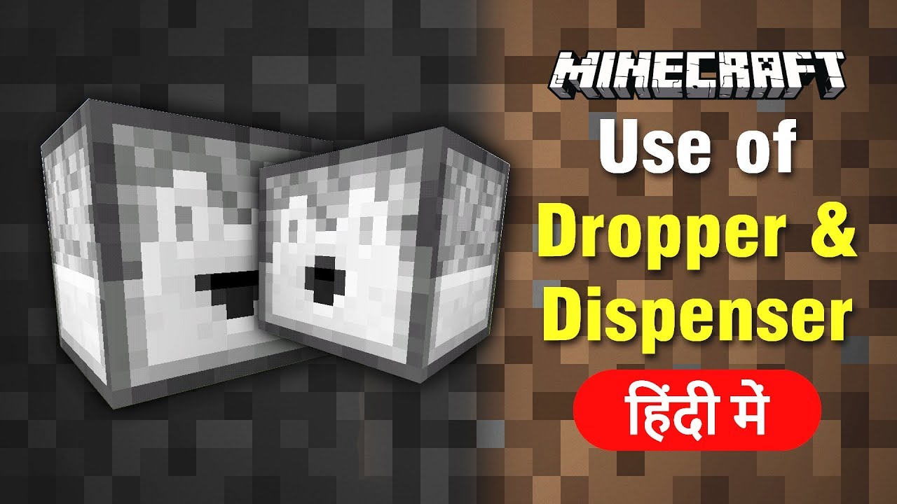 5 Use of Dropper and Dispenser Minecraft Explained in Hindi