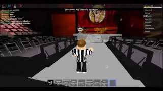 roblox wwe the nxt champion the ref wins 3 matches in a row