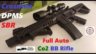 crosman DPMS SBR Review & Accuracy Test (Full Auto BB Rifle)