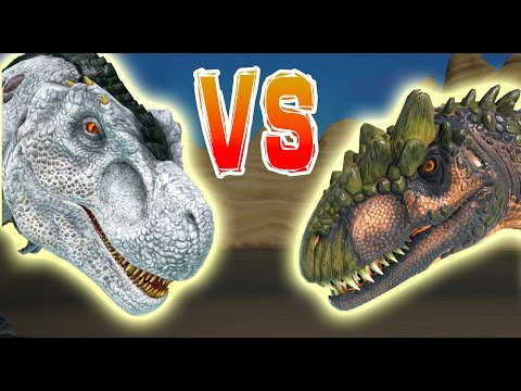 ARK | ALLO vs T REX | Allosaurus VS T rex & Alpha Rex | Dino Battle Gameplay