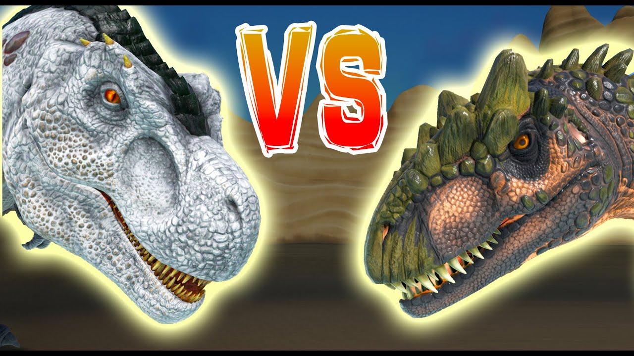 ARK   ALLO vs T REX   Allosaurus VS T rex & Alpha Rex ...