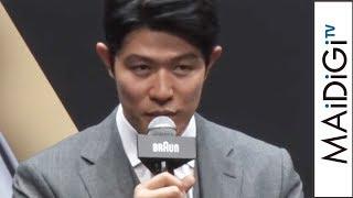俳優の鈴木亮平さん、ボクシングの井上尚弥選手が8月8日、東京都内で行われた「BRAUNシリーズ9&8 新製品PR発表会」に登場した。