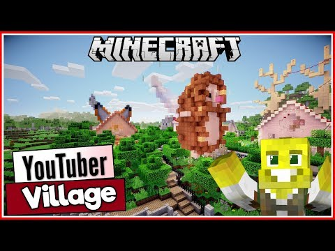 Hedgehog & Fox Houses plus More!   Youtuber Village Ep.3