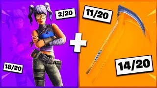 🔥 I NOTE YOUR 20 TRYHARD SKIN COMBOS ON FORTNITE! v19