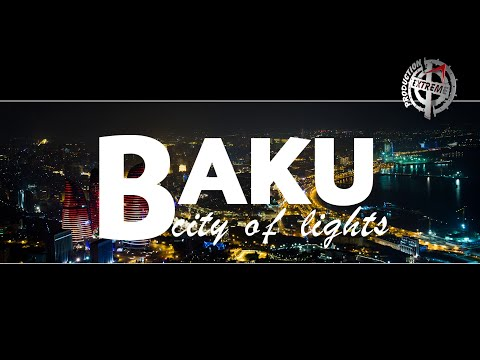 Baku city of lights. Azerbaijan. Hyperlapse & Timelapse