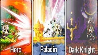 GMS v.177 Hero, Dark Knight, Paladin, Comparison
