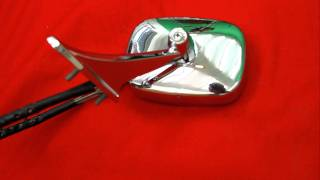 GTO NOS MIRROR, Pontiac, Manual & Remote Chrome Mirrors 1971-1972