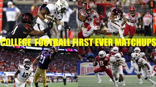 College Football: First Ever Matchups Compilation (2018-19 Season)