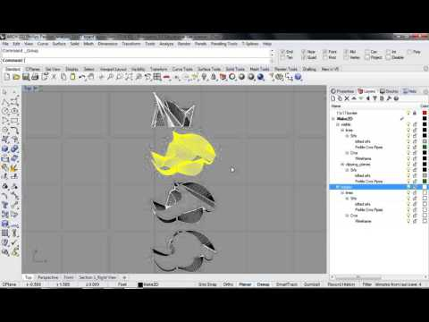 128 - Rhino - Phillips Pavilion Analysis Drawing Board Layout 01