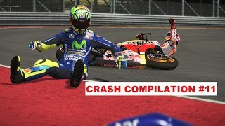 MotoGP 17 | Crash Compilation #11 | PC GAMEPLAY | TV REPLAY MotoGP game