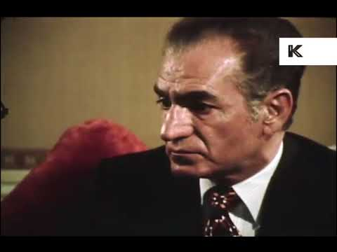 1970s Interview with Mohammad Reza Pahlavi, Shah of Iran, Rushes