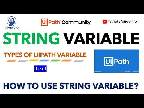 UiPath-String Variable|UiPath RPA Tutorial