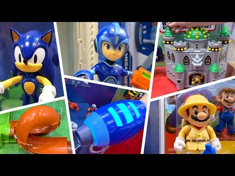 Jakks Pacific Sonic The Hedgehog Megaman Mario Bros At Toy Fair 2019 Youtube