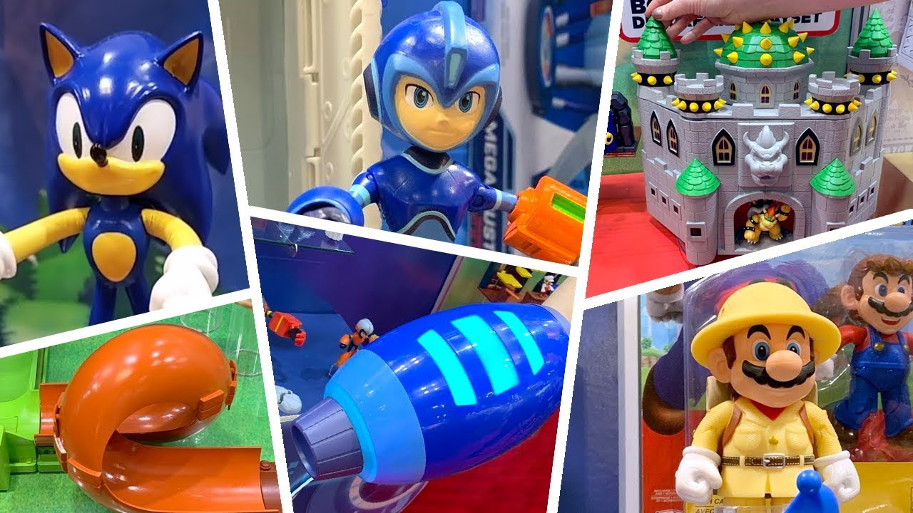 Jakks Pacific Sonic The Hedgehog Megaman Mario Bros At Toy Fair 2019 Youtube