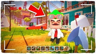 ¡ME CONVIERTO EN HELLO NEIGHBOR POR 1 DÍA EN MINI WORLD!