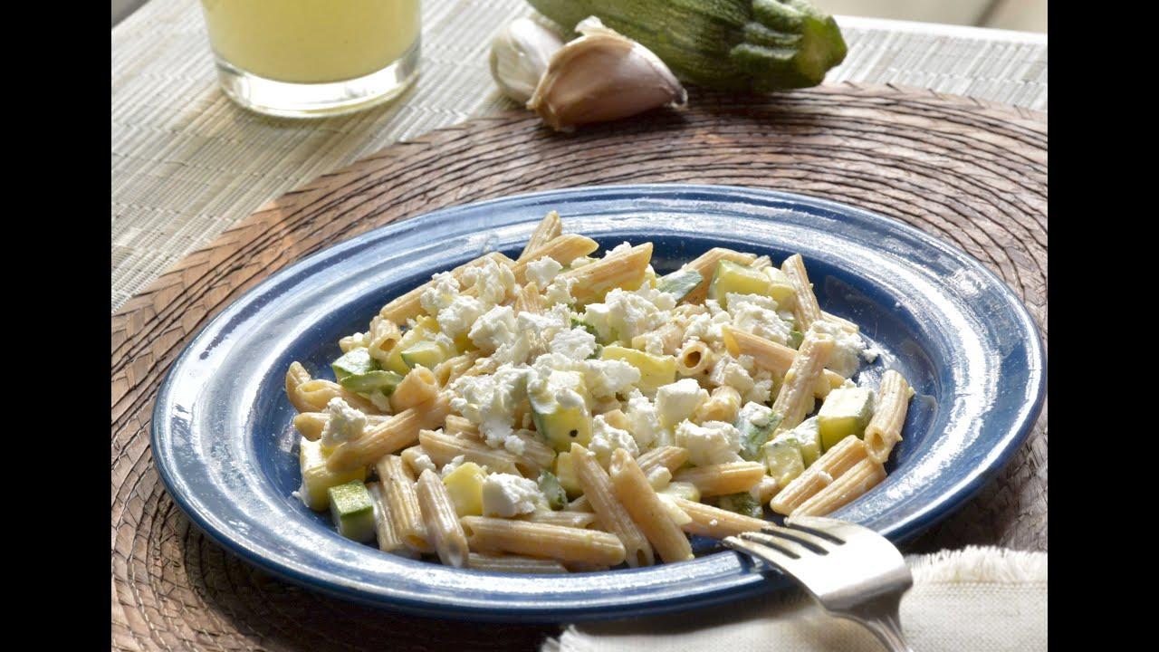 Pasta con crema queso y calabacitas receta cocina al natural youtube - Cocina al natural ...