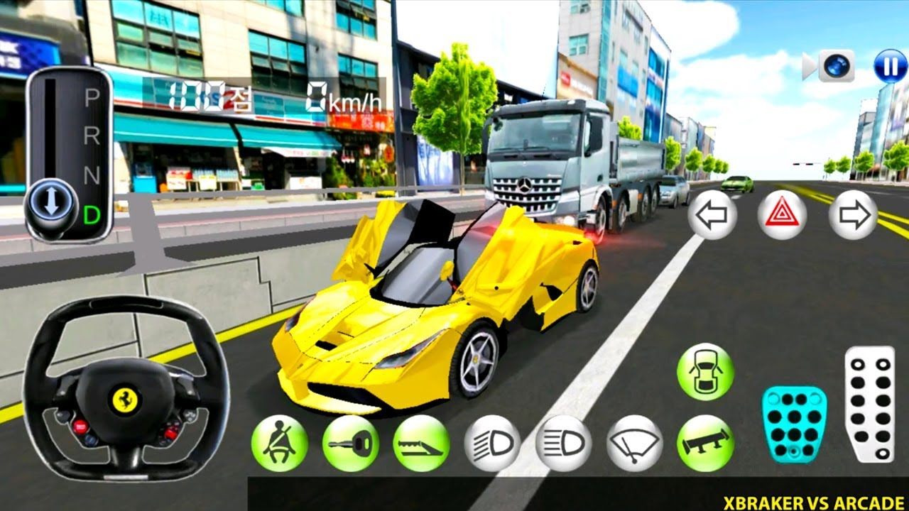 Korean Car Driving Simulator - New Car Unlocked #Ferrari- Driver's License Examination Gameplay