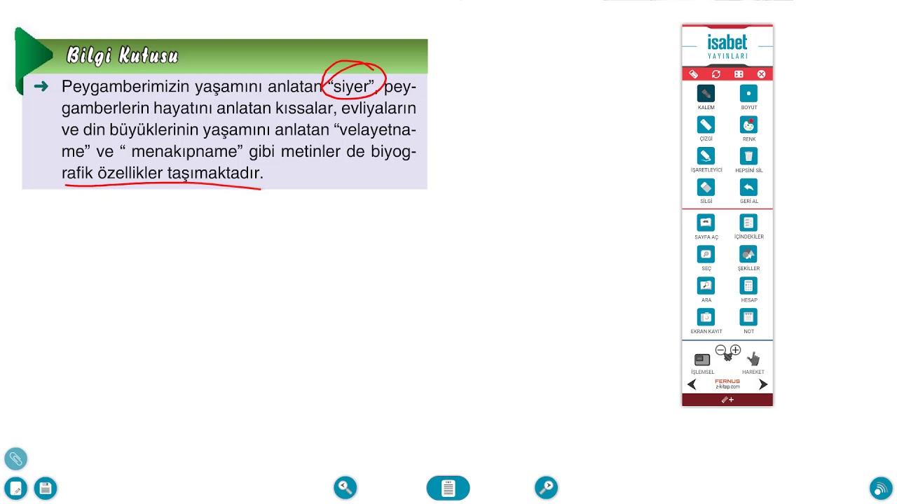 AÖ 9. Sınıf Türk Dili ve Edebiyatı 2 Ders 3 Biyografi - Otobiyografi