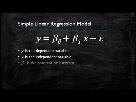 Video 1: Introduction to Simple Linear Regression