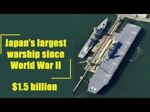 Japan's Navy Unveils 'Aircraft Carrier in Disguise' - YouTube