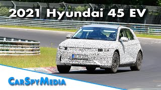 2021 Hyundai 45 EV prototype spied testing at the Nürburgring