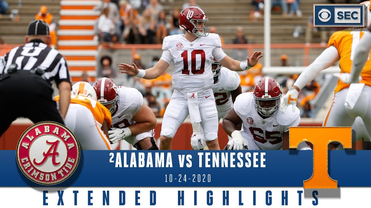 2 Alabama Crimson Tide Vs Tennessee Volunteers Extended Highlights Cbs Sports Hq Youtube