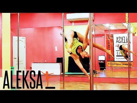 Выходы во флаг - Pole Dance (Пол Дэнс) и Pole Sport от Анастасии Сапрыкиной - Aleksa Studio